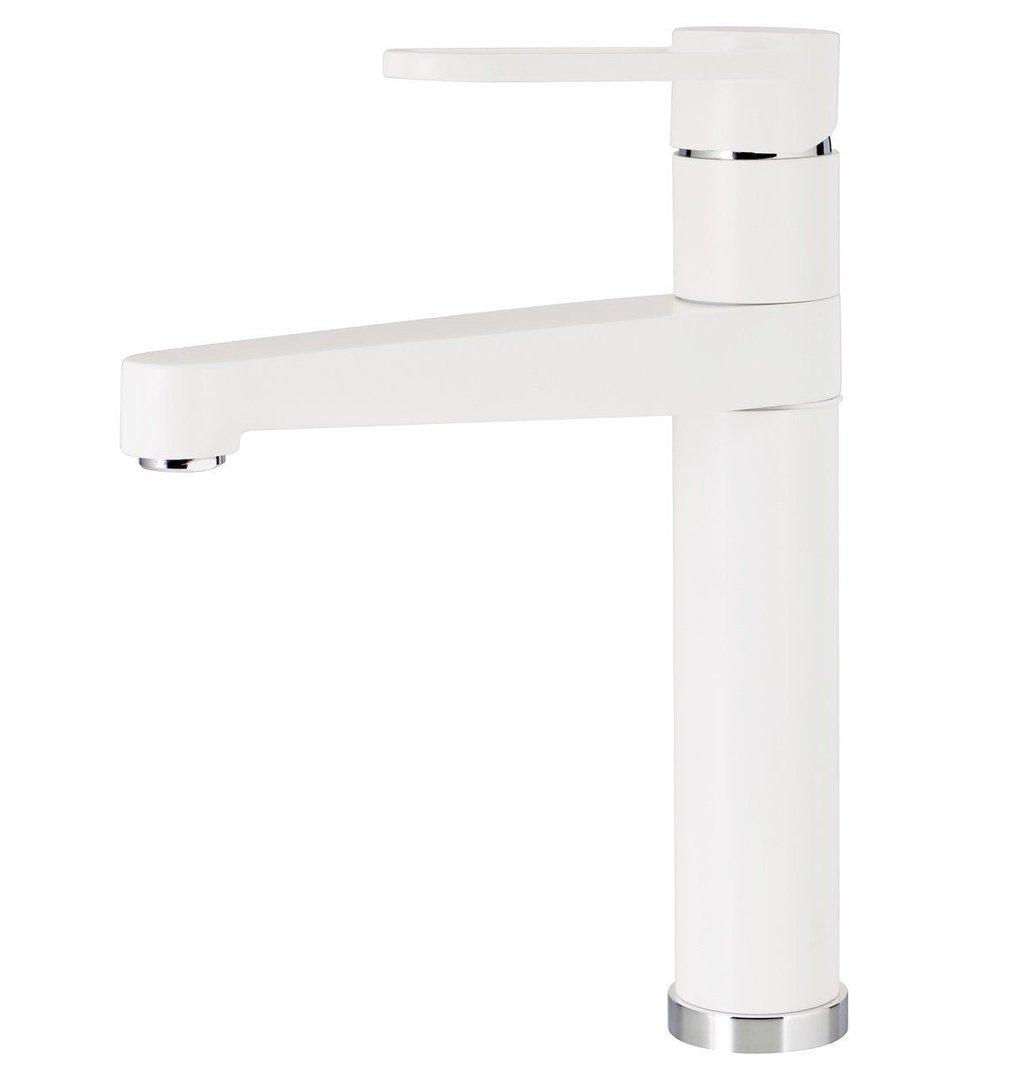 Brandneu Hochdruck Armatur Küche Spüle Spültisch Einhandmischer weiss weiß  PJ04